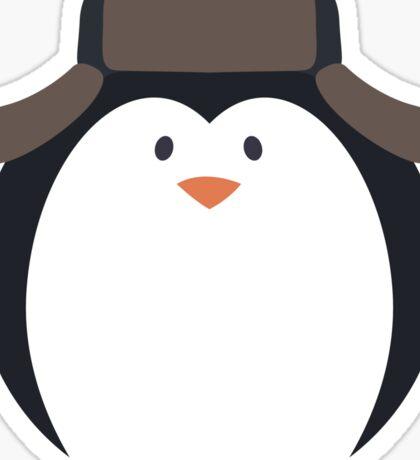 Cute Round Penguin in Hat Sticker