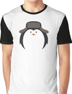 Cute Round Penguin in Hat Graphic T-Shirt