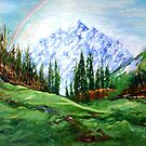Rainbow over the Snow Covered Mountain by Harsh  Malik