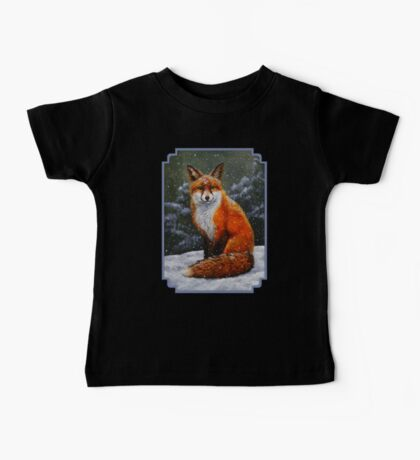Red Fox in Snow Baby Tee