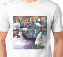 Dylan's writing shed, Winter Unisex T-Shirt