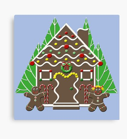 Holiday Gingerbread House Canvas Print