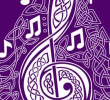 Purple Musical Tree Sticker