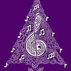 Purple Musical Tree by arkadyrose