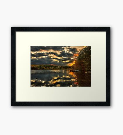 Colorful lake Waban Framed Print