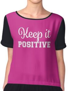 Keep It Positive - White Chiffon Top