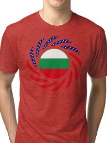 Bulgarian American Multinational Patriot Flag Series Tri-blend T-Shirt