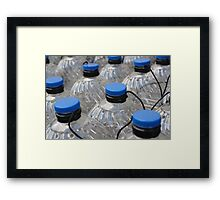 row plastic bottles  Framed Print