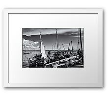 Dhow Sailing Boat Indian Ocean Framed Print