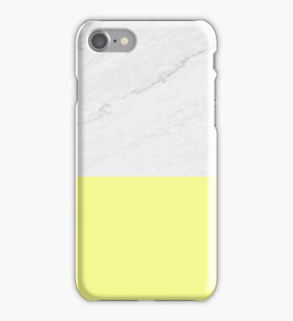 Marble And Yellow iPhone Case/Skin