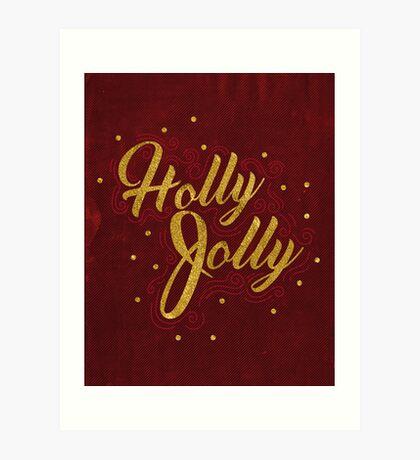 Holly Jolly Red Art Print