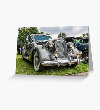 1937 Packard Super 8 Greeting Card