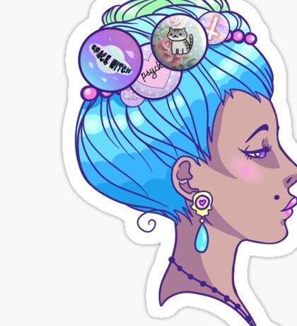 Grungy Antoinette Sticker