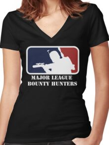 Major League Bounty Hunters Women's Fitted V-Neck T-Shirt