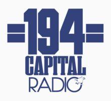 Capital Radio (1) - blue print Kids Tee