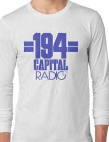 Capital Radio (1) - blue print Long Sleeve T-Shirt