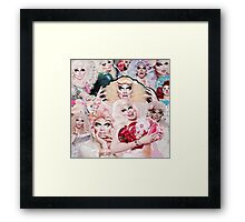 Trixie Mattel Collage Framed Print