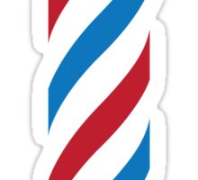 antique barber pole Sticker
