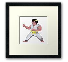 8-Bit International Karate Framed Print