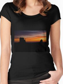 Mittens At Sunrise Women's Fitted Scoop T-Shirt