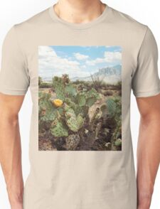 Superstitious Arizona Desert Mountain Cactus Bloom Unisex T-Shirt