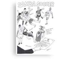 Samba Soccer Canvas Print