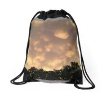 Pink Skies at Night Drawstring Bag