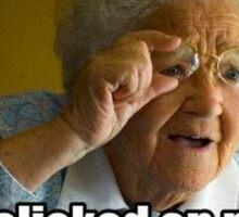 Funny Old lady Meme Sticker