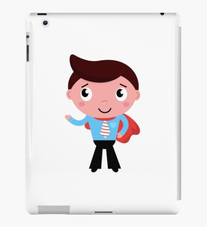 New business Man illustration in our Shop. Unique cartoon character iPad Case/Skin