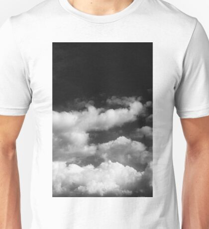 Clouds in black and white Unisex T-Shirt
