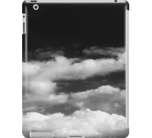 Clouds in black and white iPad Case/Skin