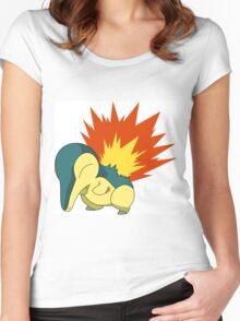 Cyndaquil - Second Gen Fire Starter Pokemon Women's Fitted Scoop T-Shirt