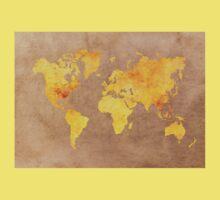 World map gold Kids Tee