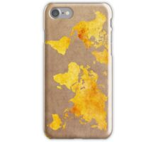 World map gold iPhone Case/Skin