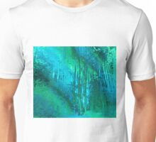 Psychedelic Forest (blue-green) Unisex T-Shirt
