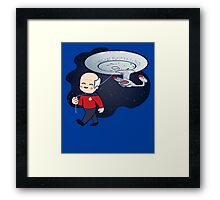 Star Trek Enterprise Picard NCC1701-D Framed Print