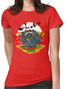 Night Fury Before Christmas Womens Fitted T-Shirt