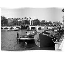 Amstel River Amsterdam  Poster