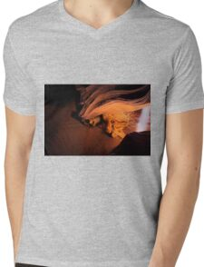 The Branch and the Light Beam Mens V-Neck T-Shirt
