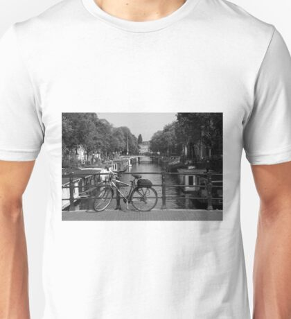Bicycle On An Amsterdam Bridge Unisex T-Shirt