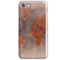 World map brown iPhone Case/Skin