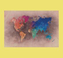 World map 5 Kids Tee