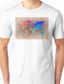 World map 5 Unisex T-Shirt