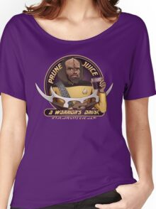 Star Trek TNG Worf Prune Juice Enterprise Women's Relaxed Fit T-Shirt
