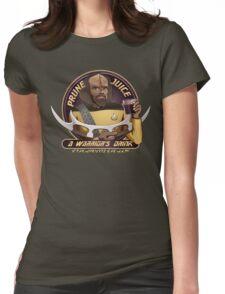 Star Trek TNG Worf Prune Juice Enterprise Womens Fitted T-Shirt
