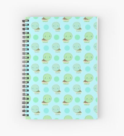 Polka dot turtle tile Spiral Notebook