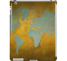 World map gold green iPad Case/Skin