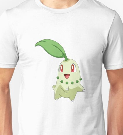 Chikorita Grass Second Generation Starter Pokemon Unisex T-Shirt