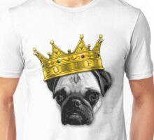 PUGS 4 LIFE! King Top Dog w/ Crown Funny K-9 PUGLIFE PUG LIFE Unisex T-Shirt