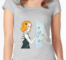 Her fingertips broke the surface, and she gasped Women's Fitted Scoop T-Shirt